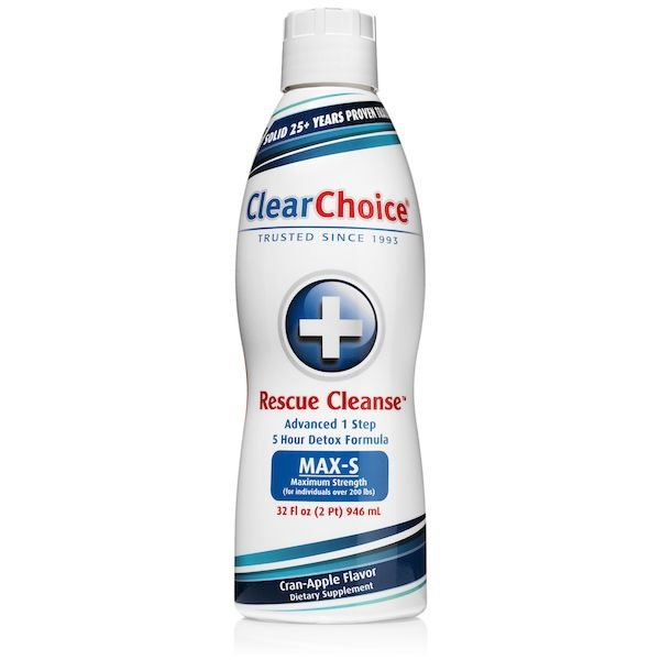 cranberry apple flavored clear choice rescue cleans drink in 32oz bottle
